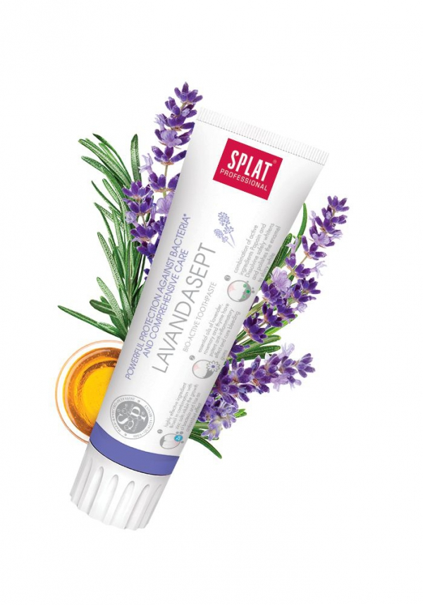 Splat pasta Lavedersept 100ml - Bioaktywna pasta do zębów specjalnie opracowana do mocnej ochrony przed bakteriami i skutecznej profilaktyki przyzębia