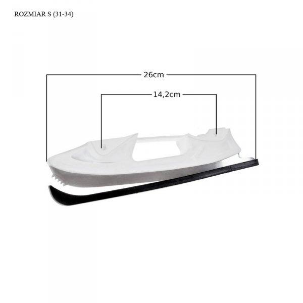 Płozy łyżwowe figurowe (białe) Croxer Optima / Exima