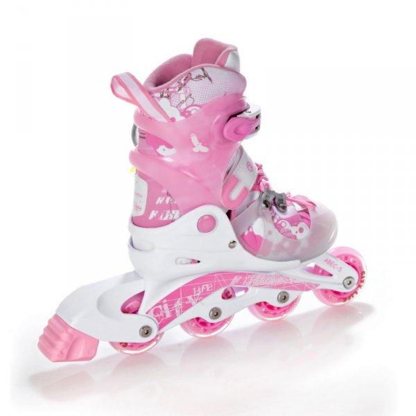 Rolki Raven Princess (white/pink) 3w1