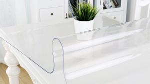 Mata elastyczna podkładka na stół, biurko ochrona w jadalni, kuchni lub salonie 140x80 cm 1 mm