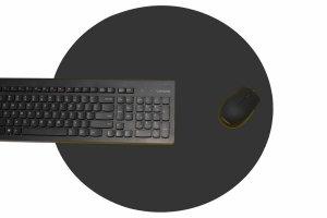 Podkładka okragła na biurko kolor mysz fi 45cm GDAŃSK