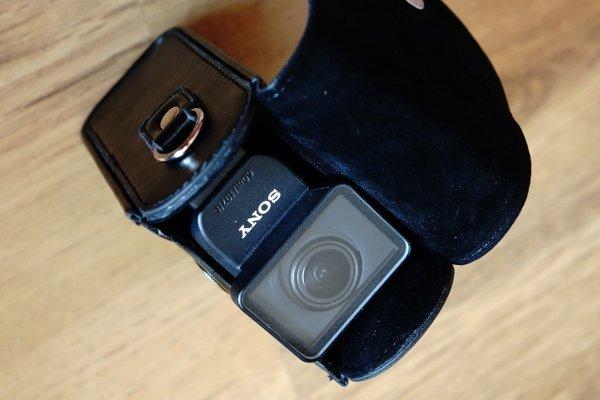 Futerał Torba Etui Aparat Sony  skórzany FDR-X100VR HDR-AS200VR HDR-AZ1VB HDR-AS50