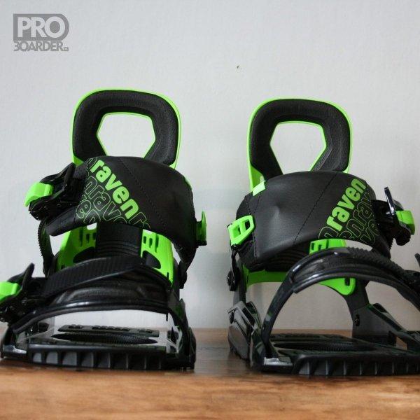 Wiązania snowboardowe Raven s200 (black / green) 2020