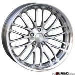 Breyton RACE CS 9,5x19 5x120 Hyper Silver with stainless steel lip