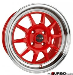 Drag Wheels DR16 Red 15x7 4x100 ET40