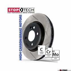 StopTech 126 Hi-Carbon Slotted tarcza hamulcowa BMW 126.34064SR