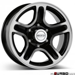 Dotz 4x4 Hammada dark Black/polished 8,5x18