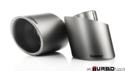 AKRAPOVIC Tail pipe set (Titanium, fits on stock exhaust)  Volkswagen Golf (VI) GTI 2009-2012