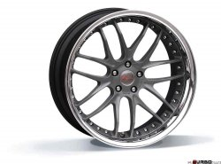 Breyton RACE GTR 10,0x22 5x120 Matt Gun Metal / Matt Black with stainless steel lip
