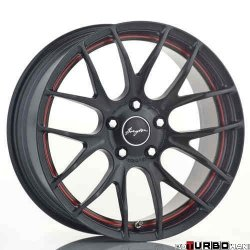 Breyton RACE GTS-R 7,5x18 5x120 Matt Gun Metal with red circle / Matt Black with red circle