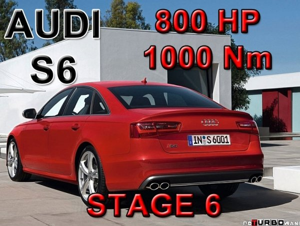 Audi S6 STAGE 6 - 800 HP / 1000 Nm PAKIET MOC