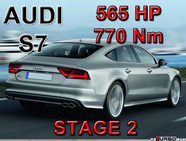 Audi S7 STAGE 2 - 565 HP / 770 Nm PAKIET MOCY