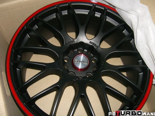 Lenso M-Spec Matt Black/Red 10x19 ET 22 72,6