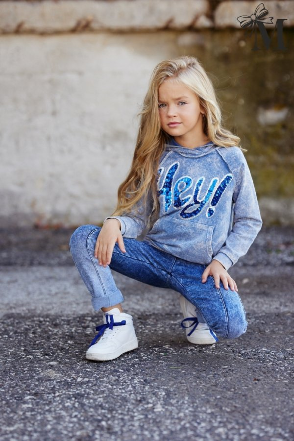Bluza 1454 - niebieska