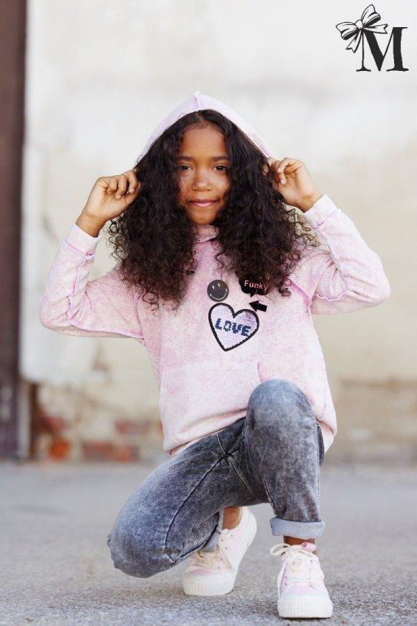 Bluza 1454 - różowa