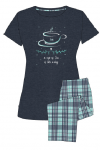 MuZZY Piżama TEA 3/4 spodnie