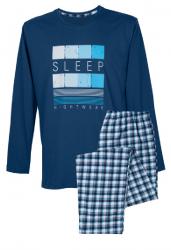 Muzzy ! Piżama męska dł. bawełniana - Niebieskie sny
