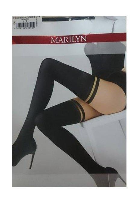 Pończochy Samonośne MARILYN COCO L15 CZARNE
