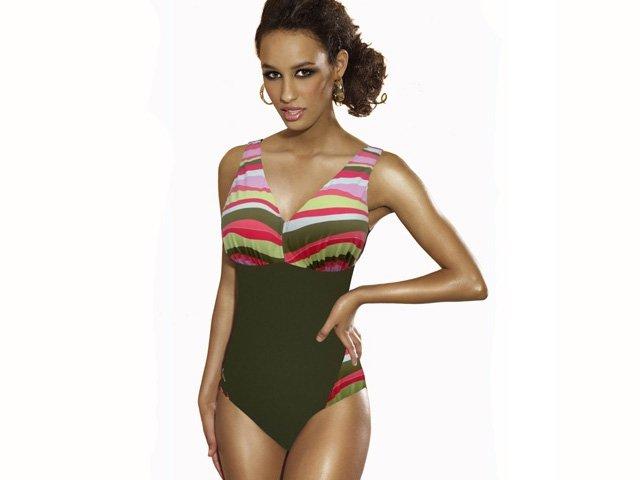 Kostium kąpielowy CAPRI K1 Fale na Khaki R: