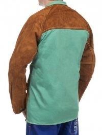 WELDAS-Lava Brown™ skórzana kurtka spawalnicza z dwoiny bydlęcej z plecami z trudnopalnej bawełny 44-7300/P L