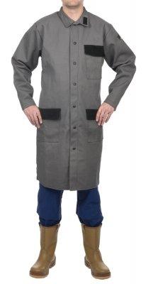 WELDAS-Arc Knight® fartuch laboratoryjny, wysokiej odporności trudnopalna bawełna 520 gr./m2 - rozmiar M