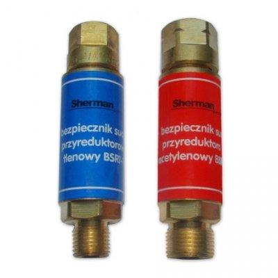 Bezpiecznik gazowy przyreduktorowy - acetylen