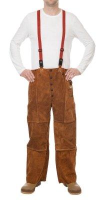 WELDAS-LAVA BROWN skórzane spodnie spawalnicze 44-7440/7600 M,L,XL