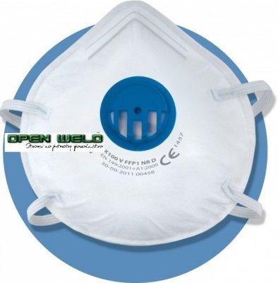Półmaska przeciwpyłowa filtrująca X 100 V FFP1 NR D (50 szt.)