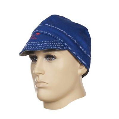 WELDAS-Fire Fox™ czapka spawalnicza, niebieska trudnopana bawełna (58 cm)