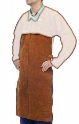 WELDAS-Lava Brown™ skórzany fartuch spawalniczy z dwoiny bydlęcej dopinany do bolerka 44-7828