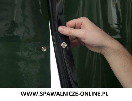WELDAS-Kurtyna spawalnicza LAVAshield 55-7218 zielony, spinany 137x180 cm (szer x wys)