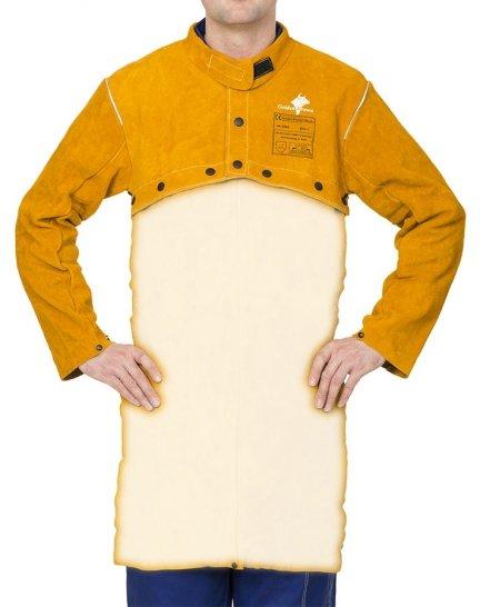 WELDAS-Golden Brown™ skórzana, spawalnicza ochrona ramion i barków (bolerko) z dwoiny bydlęcej 44-2800 rozmiar L lub XL