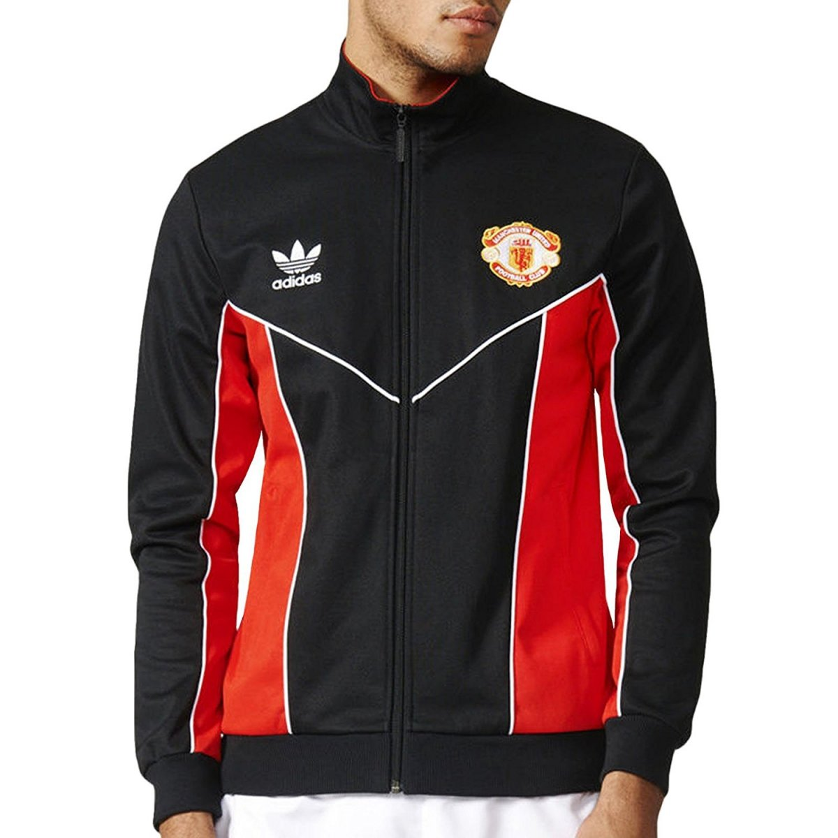 ADIDAS ORIGINALS TARCK JACKET MANCHESTER UNITED FC TRACK TOP