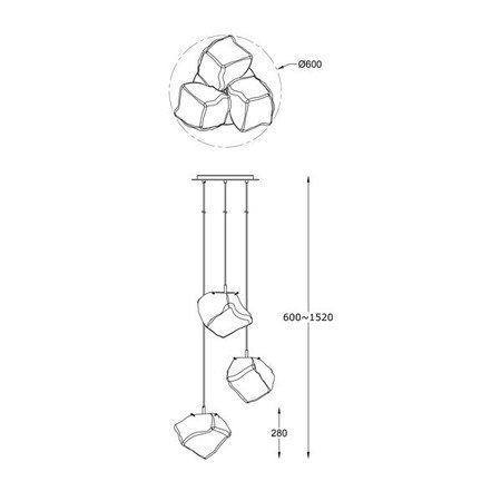 LAMPA WEWNĘTRZNA (WISZĄCA) ZUMA LINE ROCK PENDANT P0488-03A-B5FZ Zuma Line --- DODAJ PRODUKT DO KOSZYKA I UZYSKAJ MEGA RABAT ----