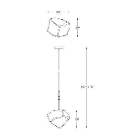 LAMPA WEWNĘTRZNA (WISZĄCA) ZUMA LINE ROCK PENDANT P0488-01M-SEAC Zuma Line