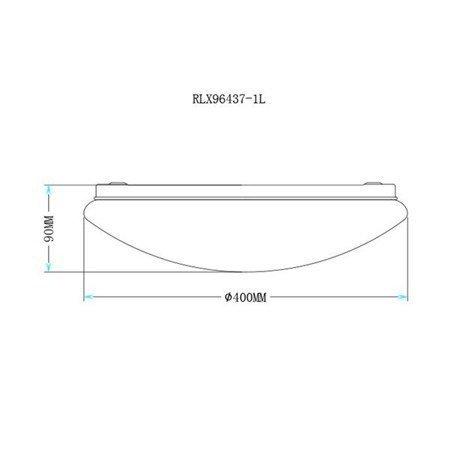 LAMPA WEWNĘTRZNA (SUFITOWA) ZUMA LINE LED CARPI CEILING RLX96437-1L Zuma Line