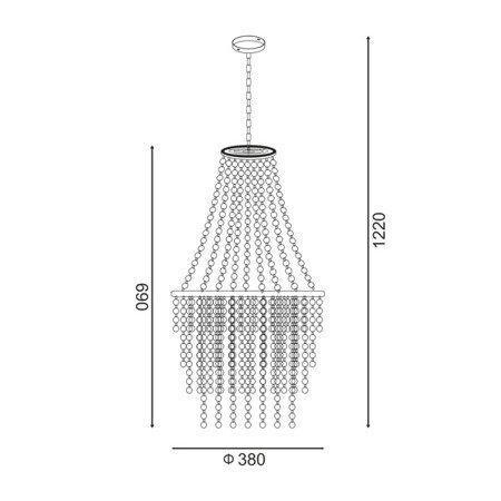 LAMPA WEWNĘTRZNA (WISZĄCA) ZUMA LINE ALMERIA PENDANT YSC01 Zuma Line
