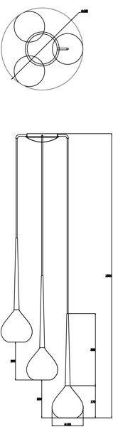 Lampa wisząca LIBRA 3 srebrna MD2128A-3S Zuma Line   --- DODAJ PRODUKT DO KOSZYKA I UZYSKAJ MEGA RABAT ----