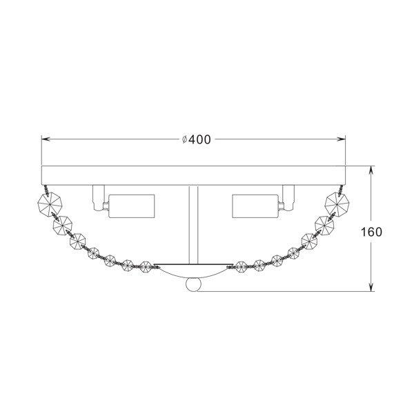 LAMPA WEWNĘTRZNA (SUFITOWA) ZUMA LINE COSI CEILING RLX94775-3   Zuma Line