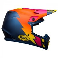 KASK BELL MX-9 MIPS STRIKE MATTE BLUE/ORANGE/PINK L