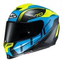 HJC R-PHA-70 KASK MOTOCYKLOWY VIAS FLUO YELLOW/BLUE