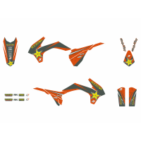 BLACKBIRD KOMPLET NAKLEJEK (OKLEIN) KTM EXC (14-16) ROCKSTAR ENERGY