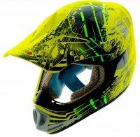 Kask motocyklowy dziecięcy enduro Shiro MX-306 Neon fluo