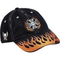 Hellfire czapka z daszkiem czarna bawełniana regulowana
