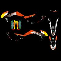 BLACKBIRD KOMPLET NAKLEJEK (OKLEIN) KTM EXC (14-16) REPLICA TROFEO 2021