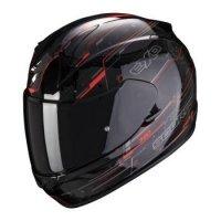 SCORPION KASK MOTOCYKLOWY KASK EXO-390 BEAT BLACK-NEON RED