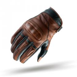 Shima Caliber rękawice motocyklowe skórzane męskie brązowe
