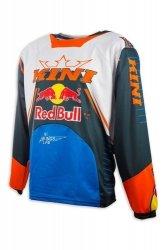 Koszulka MX cross Kini Red Bull Competition Navy/Orange
