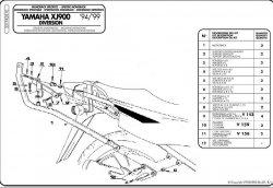 KAPPA K3310 stelaż kufra centralnego Yamaha XJ 900 Diversion (94-05)