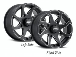 ITP TWISTER 1422326727BR 14x7 4/110 5+2 Black Milled RIGHT